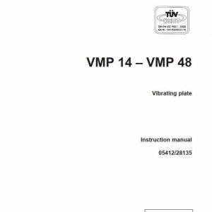 Vibrating plate VMP14/VMP48