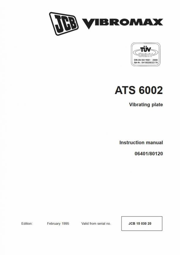 Vibrating plate ATS 6002