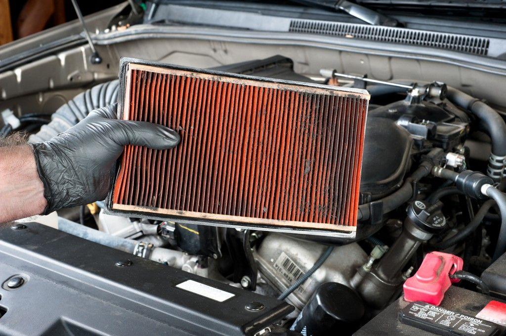 Car air filter dirty