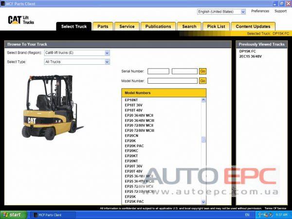 Caterpillar Forklift MCFS