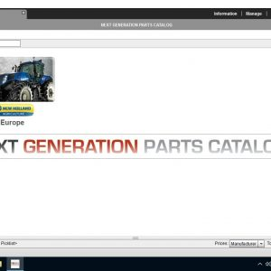 Parts catalog for New Holland