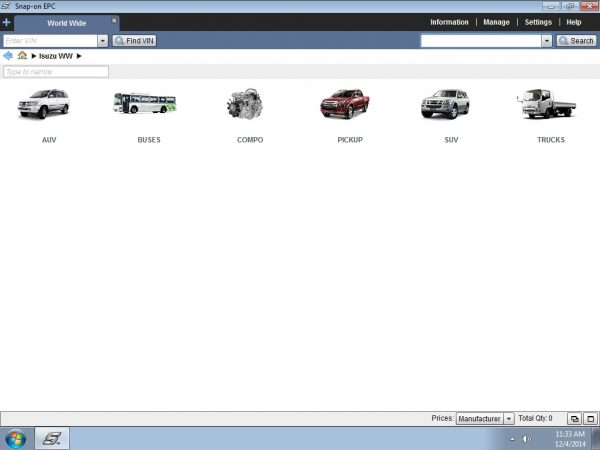 Isuzu Worldwide parts catalog